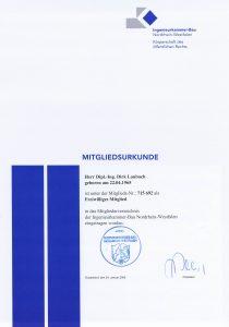 Mitglied Ingenieurkammer Bau NRW
