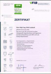 Zertifikat Bauwerksprüfung DIN 1076